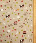 Farm yard animals fabric UK 80% Cotton 20% Poly material upholstered feel - Price Per Metre